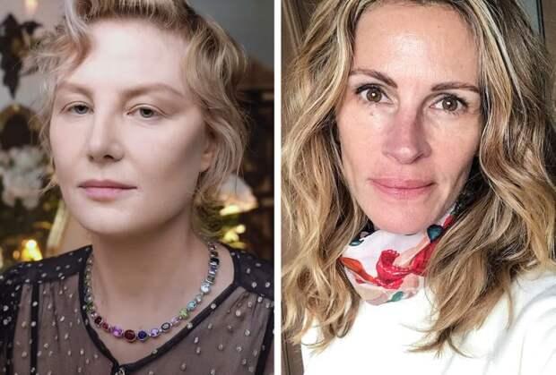 Знаменитости: Рената Литвинова и Джулия Робертс