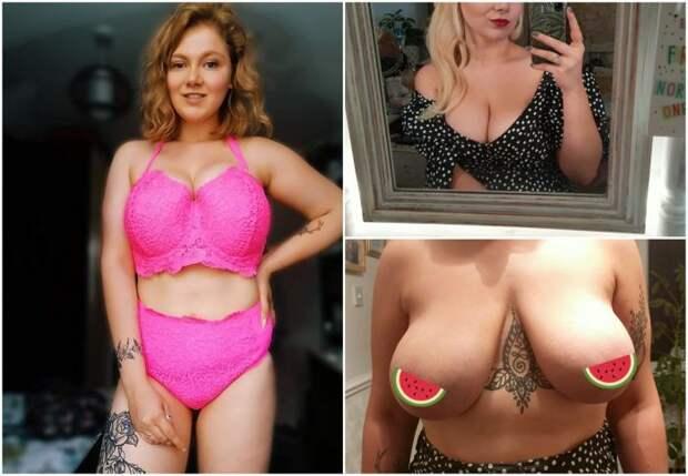 Мечтающей уменьшить грудь девушке предложили операцию в обмен на голое фот