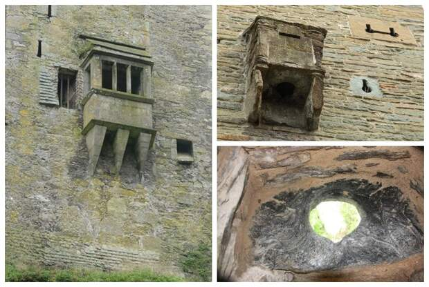 На стенах, выходящих на пределы крепости, устраивали эркеры-туалеты и туалеты-гардеробные.