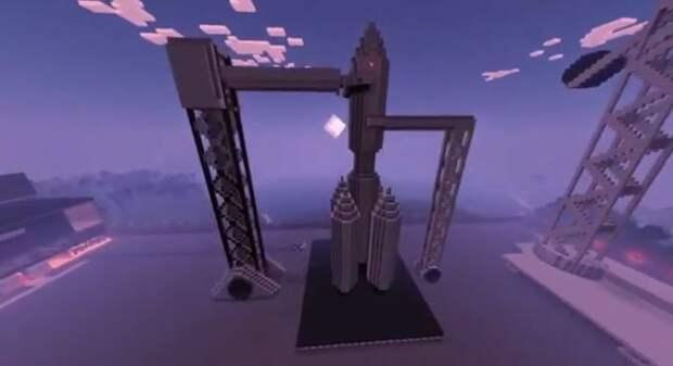 Школьники из Лианозова представили на городской конкурс созданный  в Minecraft космодром
