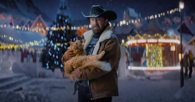 Чак Норрис спас кота в новогодней рекламе World of Tanks