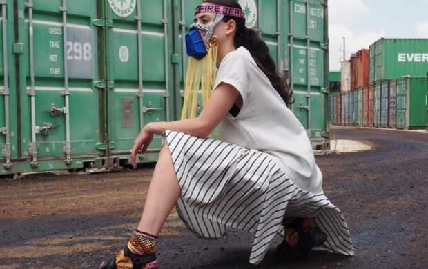 Маски соединили в себе модный дизайн и заботу об экологии