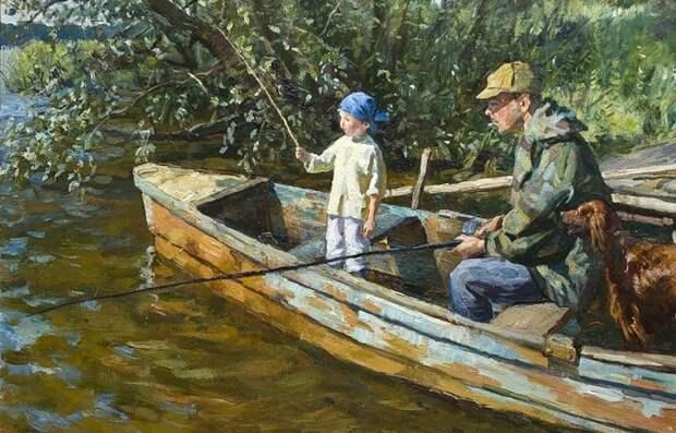 Деревенская жизнь на картинах московских художников отца и сына Соломиных