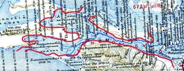 Карта 1899 года