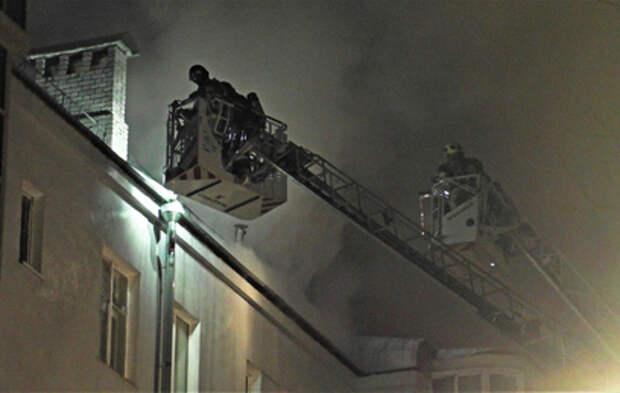 Жильцы рассказали о пожаре в доме на Пятницкой улице