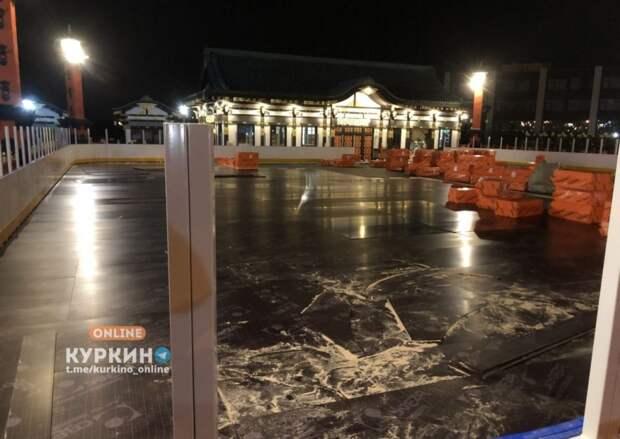 Фестивальную площадку в Куркине готовят к зимнему сезону
