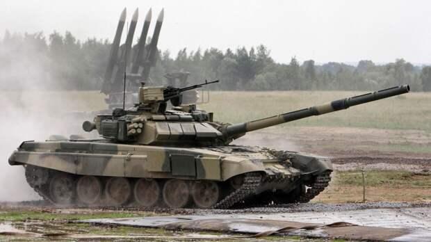 На Украине смоделировали «уничтожение» беспилотником российского танка Т-90