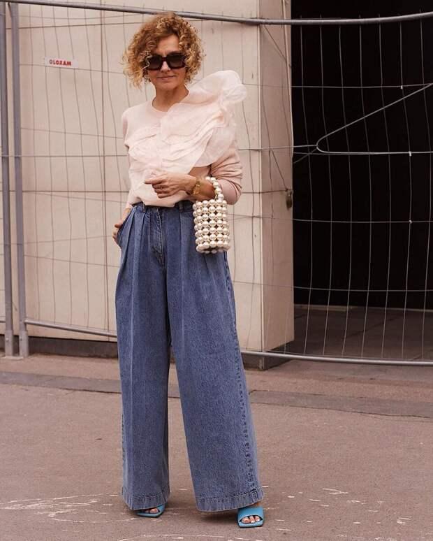 Как красиво носить широкие брюки после 45. Какую обувь и какой верх подобрать