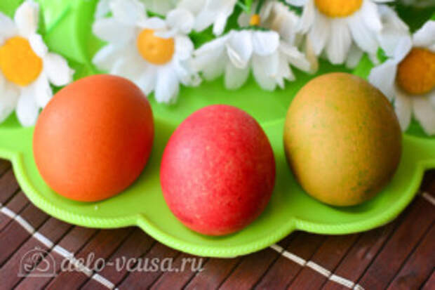 Как покрасить яйца рисом: фото к шагу 6