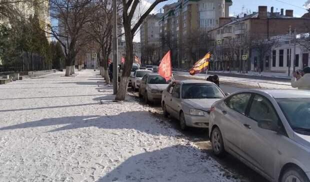 ВРостове прошел автопробег вчесть годовщины освобождения города отфашистов