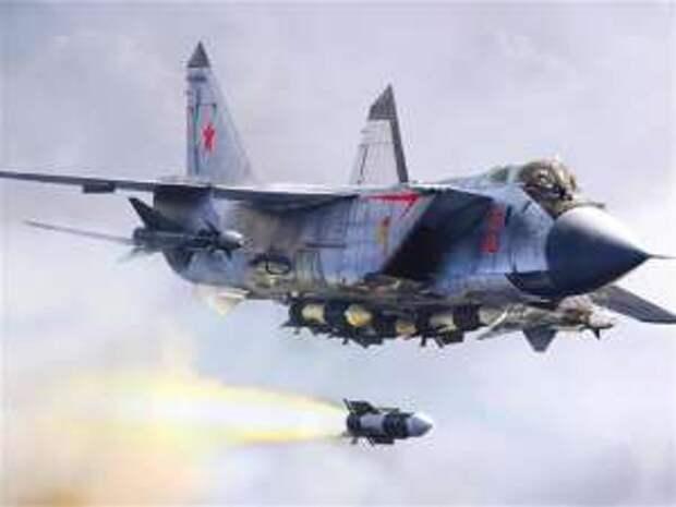 Истребитель МиГ-31К нанес удар гиперзвуковой ракетой «Кинжал» по цели на территории Сирии