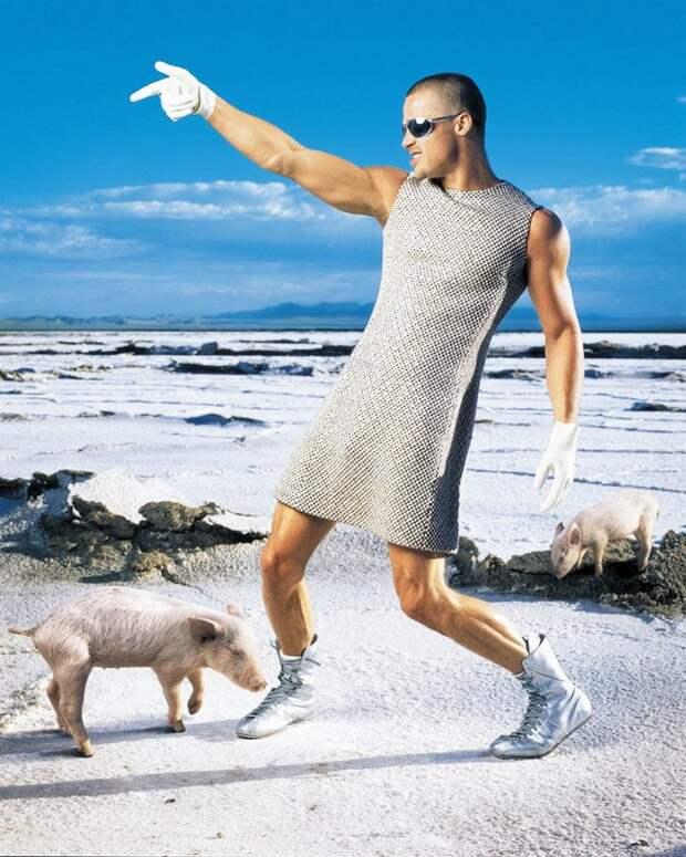 7 крутых фото Бреда Питта в платье в 1999 году для журнала Rolling Stone