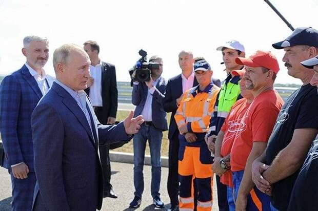 Путин открыл новую федеральную трассу «Таврида»