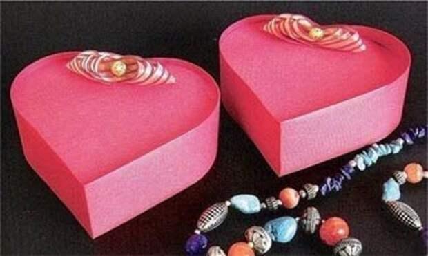 Подарочная коробка в виде сердечка
