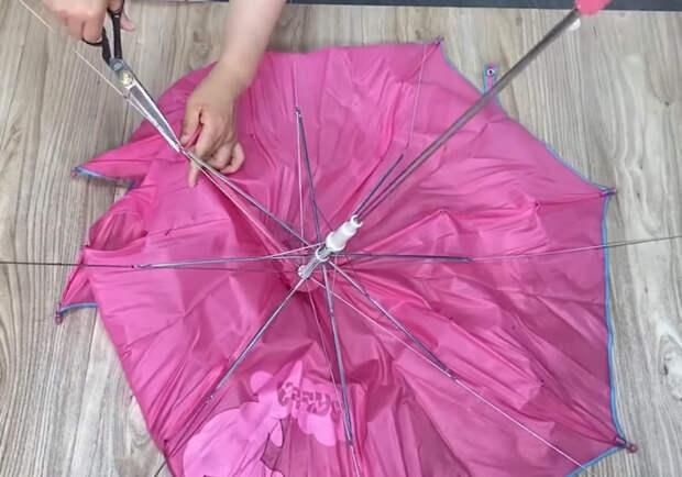 Самая неожиданная переделка старых зонтиков. Креативная голова рукам покоя не дает