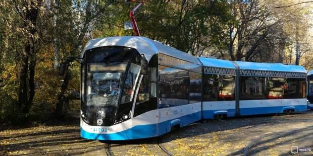 Несколько маршрутов трамваев задерживаются на Волоколамке