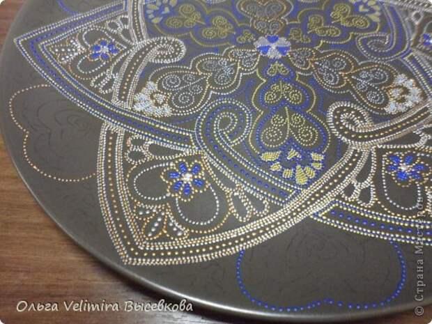 Декор предметов Роспись Тарелка Сердце Востока МК для начинающих Краска Стекло фото 12