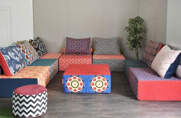 Бескаркасные диваны: особенности, разновидности, цвета (41 фото)