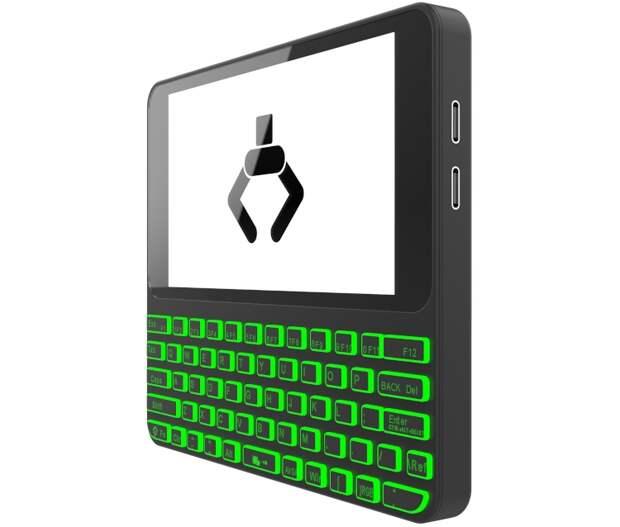 Мини-компьютер Pocket P.C. с клавиатурой построен на основе Linux