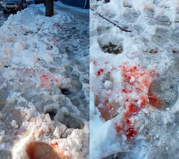 В Краснодаре на женщину рухнула глыба льда с крыши