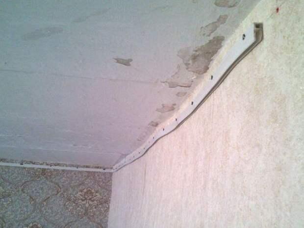 Что делать если на потолке заметные перепады высот
