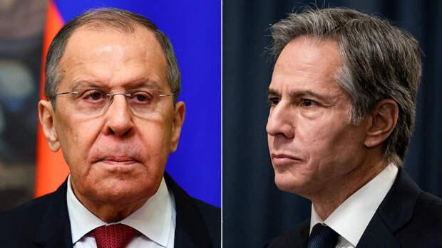 Госдеп США не стал указывать точное время переговоров Лаврова и Блинкена