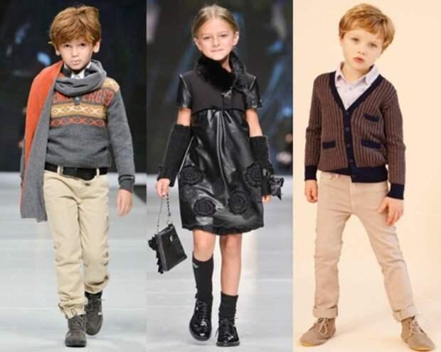 При этом детей все чаще одевают в копию взрослых одежд СССР, детская одежда, мода 80-90-х