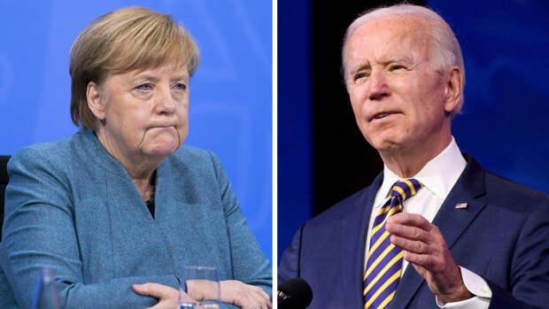 """Меркель и Байден переговорили по """"Северному потоку - 2"""""""