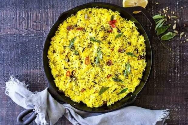 Рис с цитрусовыми. \ Фото: pinterest.ph.