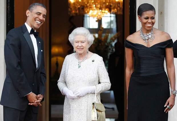 Барак Обама, Елизавета II и Мишель Обама