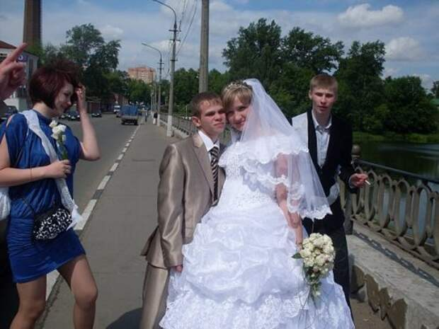 Свадебные фотоприколы (26 фото)