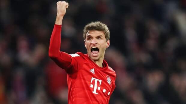 Мюллер второй год подряд стал лучшим ассистентом Бундеслиги. У него 18 результативных передач