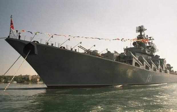 Avia.pro: корабль США прикрылся от российского крейсера «Москва» турецким фрегатом в Черном море