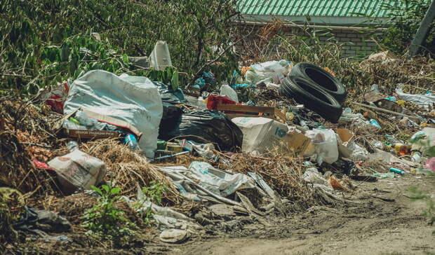 В орском посёлке ликвидировали несанкционированную свалку возле школы