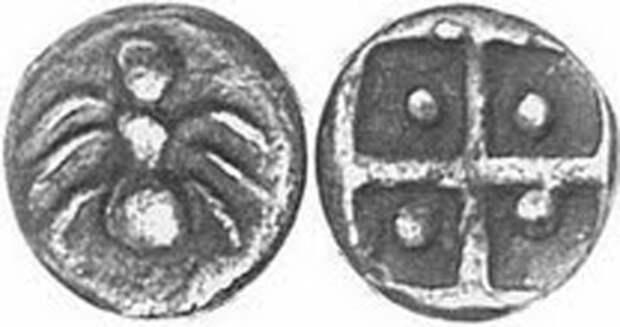 Пантикапей -500 г.до н.э.Серебро. Муравей и засеянное поле