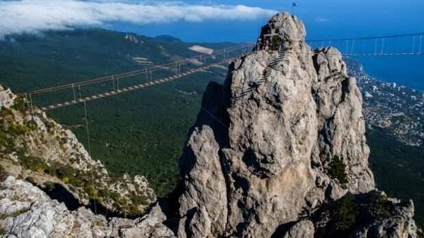 В горах Крыма спасли туристов из Москвы