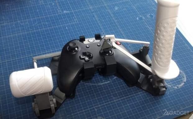 Энтузиаст превратил контроллер Xbox One в игровой штурвал самолета и поделился инструкцией