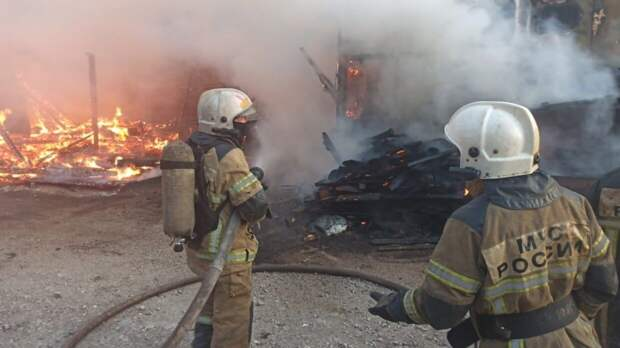 Тела взрослых и детей найдены на месте пожара в Удмуртии