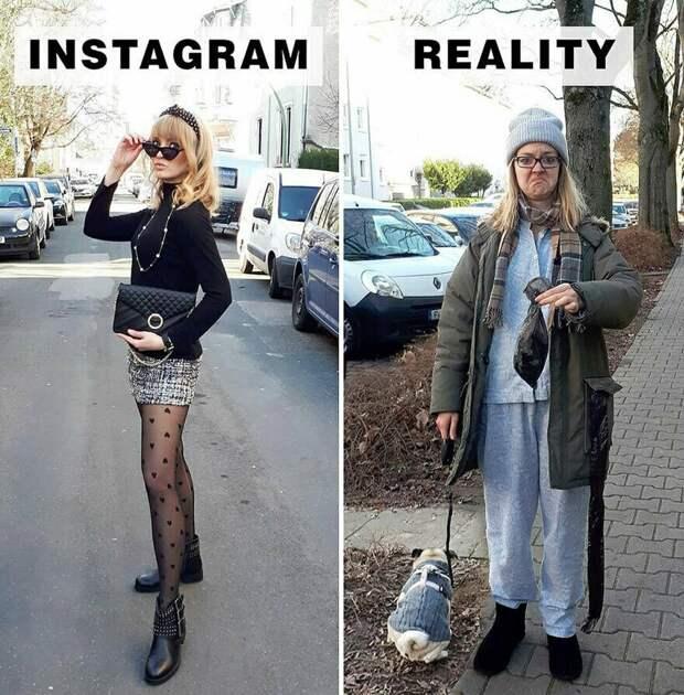 Instagram VS реальность: девушка высмеивает идеальные снимки из соцсетей