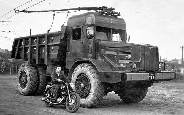 Троллейвоз на базе карьерного самосвала МАЗ-525