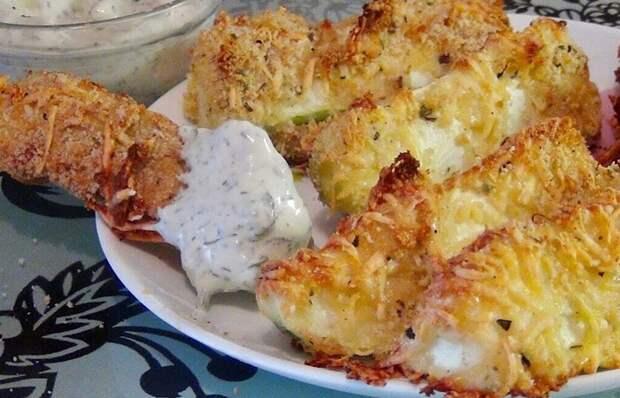 Вкуснейшие кабачки в сырной панировке