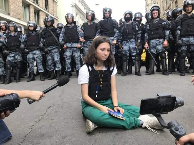 «Оля конституция» - юная оппозиционерка или волк в овечьей шкуре? видеозапись