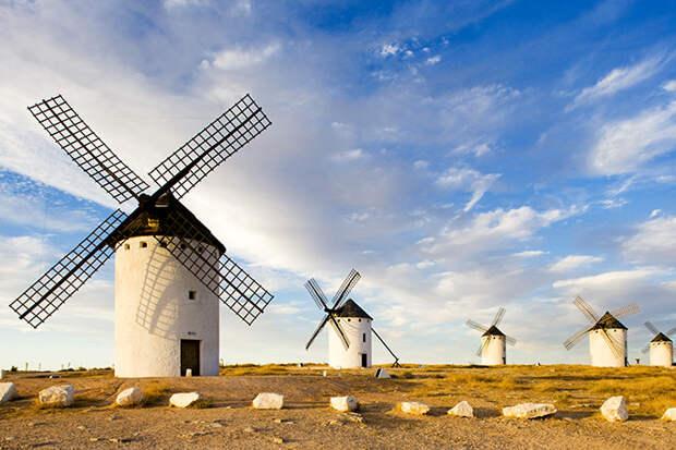 Ветряные мельницы в Кампо-де-Криптана, Испания