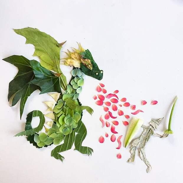 Лепестки вместо красок: необычные картины художницы из Сиэттла