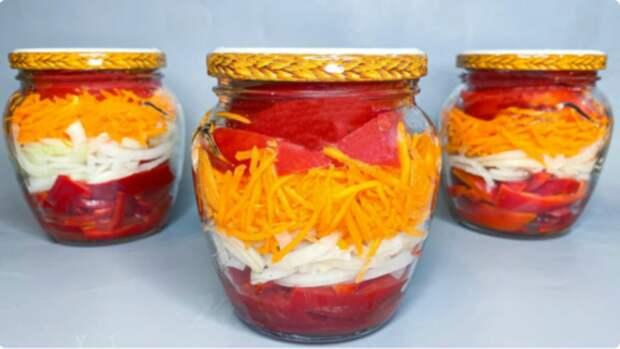 Новый и очень простой салат на зиму: яркий и вкусный