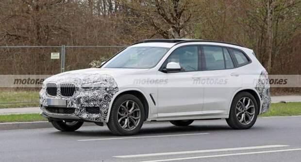 Шпионы засняли прототип нового кросса BMW X3 LCI 2022 года