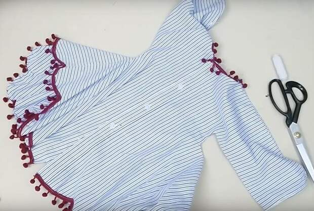 Модное платье из старой рубашки