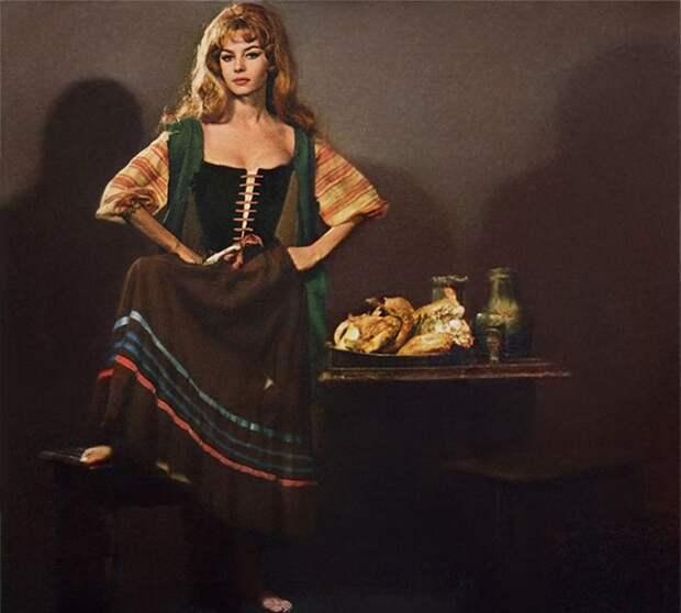 Кинопроба Мишель Мерсье на роль Анжелики. 1963 год.