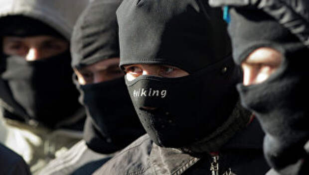 Активисты Правого сектора. Архивное фото