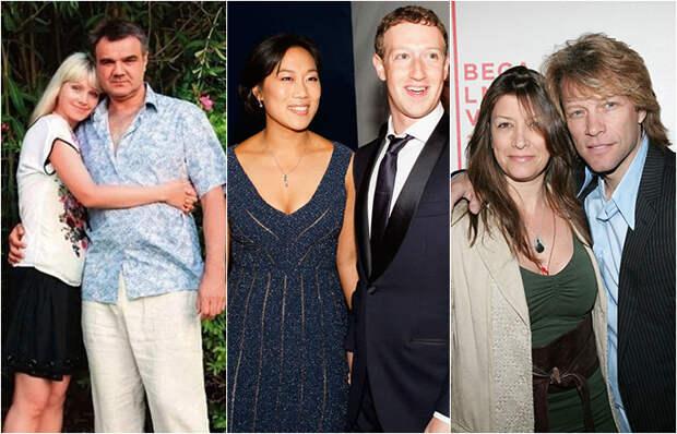 Знаменитые пары, которые знакомы с юности и всё ещё вместе